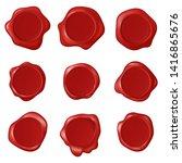 retro vintage seal wax stamps ... | Shutterstock . vector #1416865676