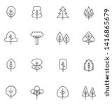 tree thin line  icons set. ... | Shutterstock . vector #1416865679