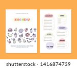 modern doodle kids menu  great... | Shutterstock .eps vector #1416874739