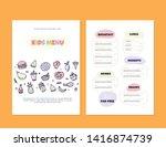 modern doodle kids menu  great... | Shutterstock .eps vector #1416874739