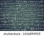 black board with scientific... | Shutterstock . vector #1416894929