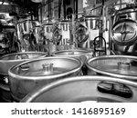 stainless steel beer brewing... | Shutterstock . vector #1416895169