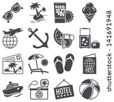 icons set  summer vacations | Shutterstock .eps vector #141691948
