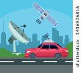 gps location car service... | Shutterstock .eps vector #1416926816