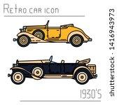 color vector icon set american...   Shutterstock .eps vector #1416943973