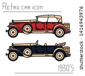 color vector icon set american...   Shutterstock .eps vector #1416943976