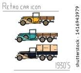 color vector icon set american...   Shutterstock .eps vector #1416943979