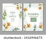 tropical summer green flower...   Shutterstock .eps vector #1416946673