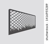 wire fence icon in flat style...   Shutterstock .eps vector #1416955289