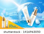 sunscreen product ads with... | Shutterstock .eps vector #1416963050