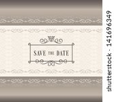 save the date wedding... | Shutterstock .eps vector #141696349