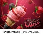 Strawberry Ice Cream Cone Ads...