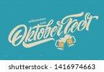 oktoberfest handwritten... | Shutterstock .eps vector #1416974663