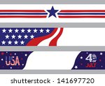 4th of july banners with usa... | Shutterstock .eps vector #141697720