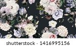 seamless floral pattern with... | Shutterstock . vector #1416995156