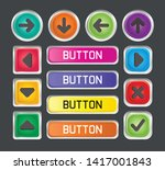 button collection for web ui... | Shutterstock .eps vector #1417001843