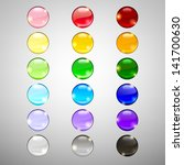 set of blank web buttons for... | Shutterstock .eps vector #141700630
