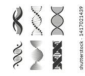 dna icon. chromosome strand... | Shutterstock .eps vector #1417021439