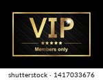 vip members only sticker  ...   Shutterstock .eps vector #1417033676