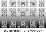 black and white relief convex... | Shutterstock . vector #1417044029