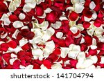 Stock photo red and white rose petals background floral backgrounds collection 141704794