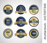 luxury gold badges and labels... | Shutterstock .eps vector #1417057340
