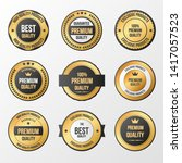 luxury gold badges and labels... | Shutterstock .eps vector #1417057523