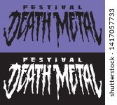 banner for death metal music...   Shutterstock .eps vector #1417057733
