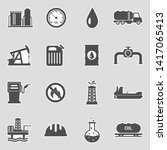 oil industry icons. sticker... | Shutterstock .eps vector #1417065413
