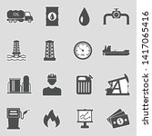 oil icons. sticker design.... | Shutterstock .eps vector #1417065416