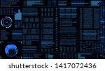 hud futuristic digital encoder...