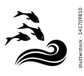 résumé,animaux,biologie,noir,clipart,élément,emblème,nageoire,poisson,pêche,alimentaire,d'eau douce,groupe,heureux,en bonne santé