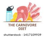 carnivore menu dish web banner... | Shutterstock .eps vector #1417109939