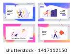 successful businessman draw...   Shutterstock .eps vector #1417112150
