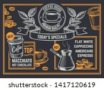 coffee menu. vintage hand drawn ...