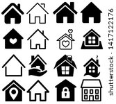 house icon set. house vector... | Shutterstock .eps vector #1417122176