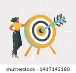 cartoon vector illustration of... | Shutterstock .eps vector #1417142180
