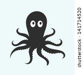 octopus. vector illustration | Shutterstock .eps vector #141714520