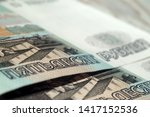 fragment of fifty ruble notes...   Shutterstock . vector #1417152536