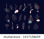 set of different forms leaves... | Shutterstock .eps vector #1417158659