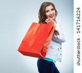 portrait of happy smiling... | Shutterstock . vector #141716224