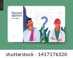medical insurance template ... | Shutterstock .eps vector #1417176320