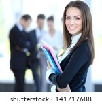 face of beautiful woman on the... | Shutterstock . vector #141717688