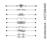 decorative monograms and...   Shutterstock . vector #1417186460