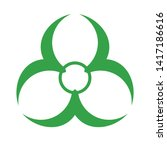 biohazard icon. danger symbol.... | Shutterstock .eps vector #1417186616