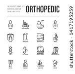 orthopedic thin line icons set. ... | Shutterstock .eps vector #1417195259