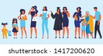 woman different ages. baby ... | Shutterstock .eps vector #1417200620