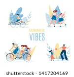 summer vibes set with resting... | Shutterstock .eps vector #1417204169