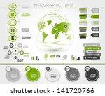 green world wood infographic. ... | Shutterstock .eps vector #141720766