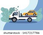 roadside assistance concept ...   Shutterstock .eps vector #1417217786